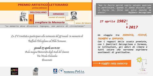 35°ennale in memoria di Delcogliano e Iermano. Giovedì 20 Aprile la presentazione