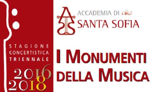 """Orchestra Accademia di Santa Sofia.Ultimo appuntamento concertistico con: """"I monumenti della Musica"""""""
