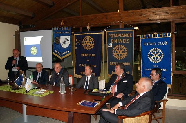 Gemellaggio Rotary Club Valle Telesina, Thessaloniki (Grecia) Caserta Terra di Lavoro 1954 e Nola-Pomigliano.
