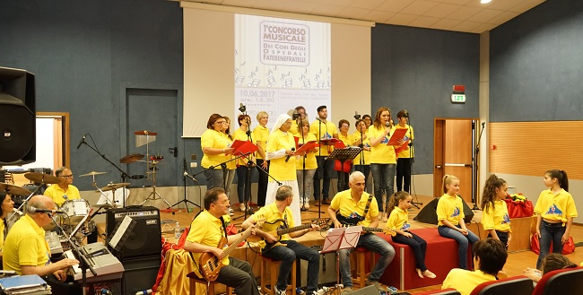 Grande successo per l'esibizione dei cori ospedalieri Fatebenefratelli