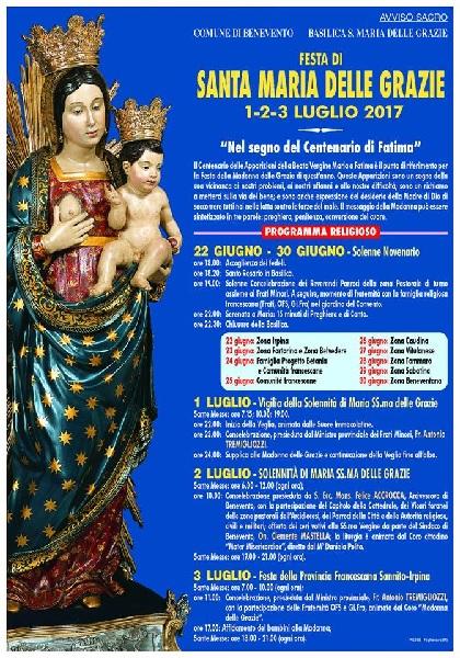 Festa Madonna delle Grazie: la comunità francescana dei frati minori indica un percorso di fede