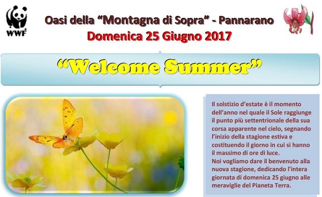 """Oasi della """"Montagna di Sopra"""" Pannarano. Domenica 25 Giugno """"Welcome Summer"""""""