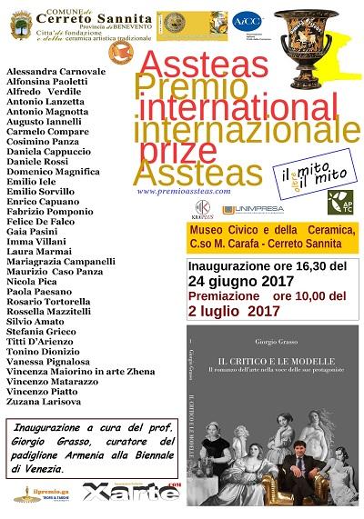Prima edizione del Premio internazionale Assteas a Cerreto Sannita.Ecco il Programma