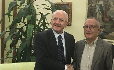 De Luca e Vigorito, incontro in Regione Campania per sondare la disponibilità dell'ente.