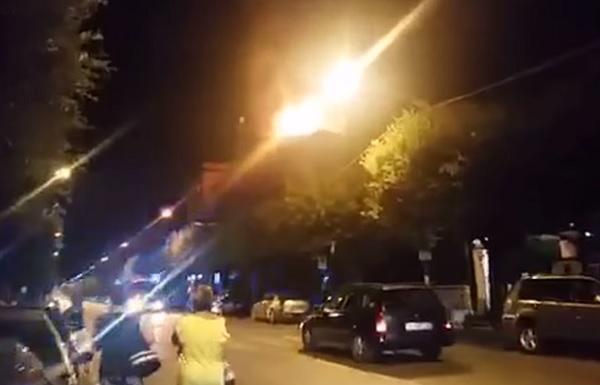 Maxi incendio al Viale Principe di Napoli