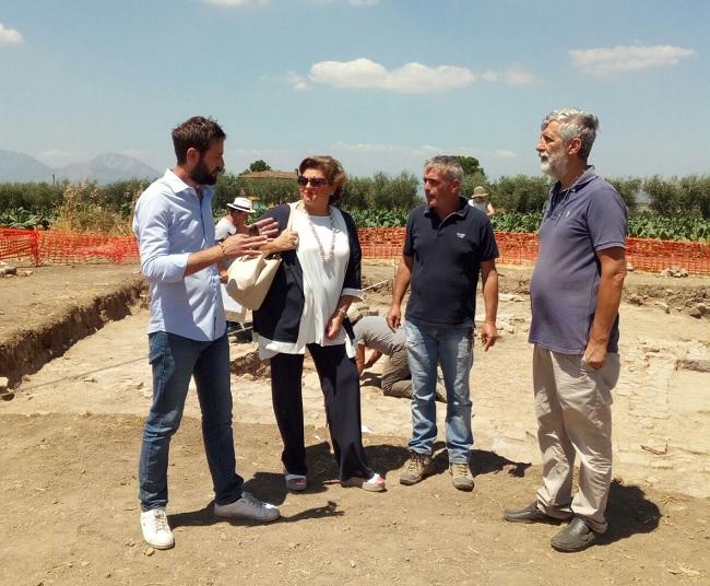 Sopralluogo dell'assessore Del Prete presso gli scavi di Masseria Grasso