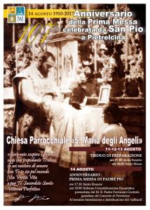 Pietrelcina. Prima messa di Padre Pio: quest'anno ricorre il 107° Anniversario