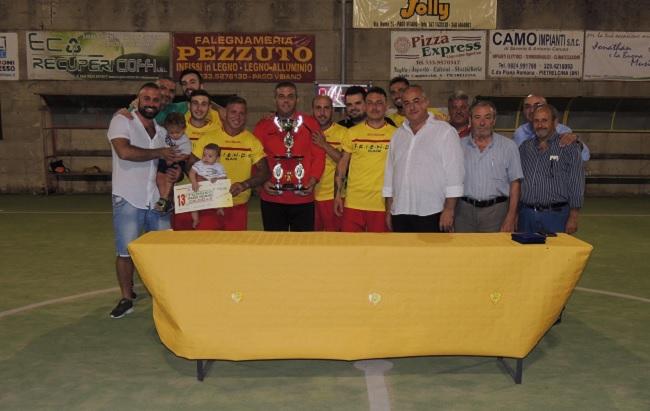 """Pago Veiano.Tredicesima edizione Torneo Calcio a 5:vince la squadra """"Gli Stregoni"""""""