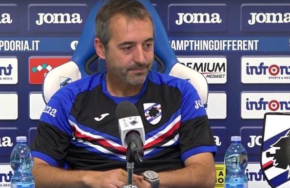 """Giampaolo (all. Sampdoria) : """" Con il Benevento non è una partita scontata """""""