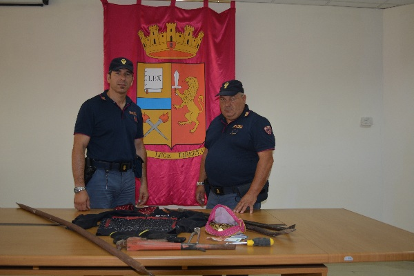 Benevento: maxi furto sventato dalla Polizia