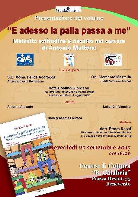 """Cives presenta il libro di Antonio Mattone """"E adesso la palla passa a me"""""""