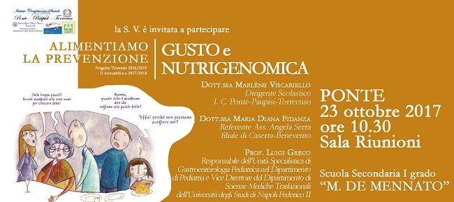 Riprende , presso l'I.C. Ponte-Paupisi-Torrecuso,  il Progetto di Educazione Alimentare