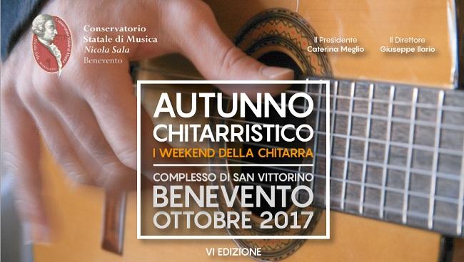 """6ª edizione dell'Autunno Chitarristico al Conservatorio """"N. Sala"""" di Benevento"""