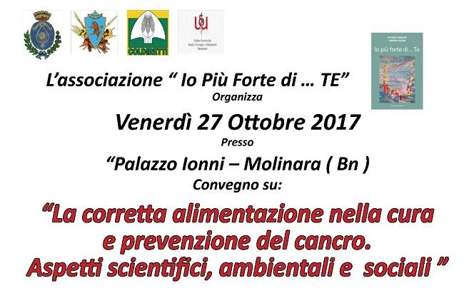 """Associazione""""Io più forte di Te"""": Convegno medico scientifico a Molinara"""
