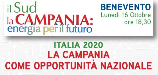 Il Ministro Claudio De Vincenti lunedì a Benevento