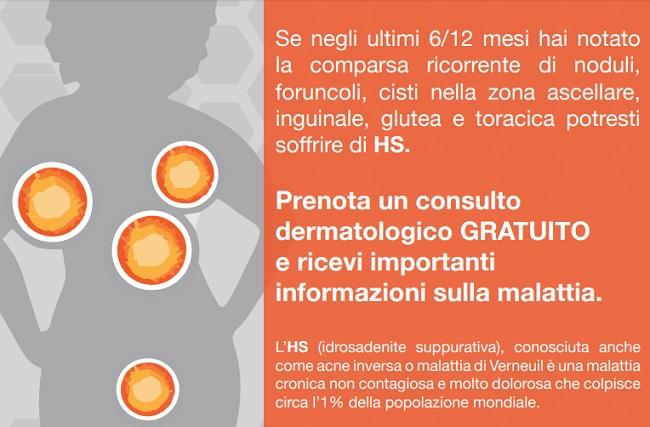 A Benevento torna la campagna nazionale sull'HS.Visite Gratuite per chi soffre di cisti