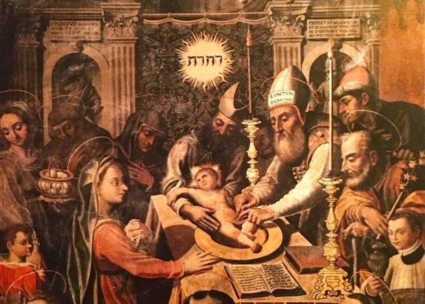 San Lorenzo Maggiore. Il quadro della circoncisione festeggia i 400 anni.