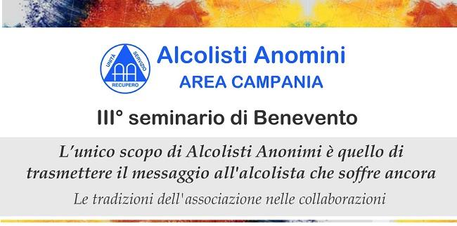 A Benevento il III° Seminario Alcolisti Anonimi