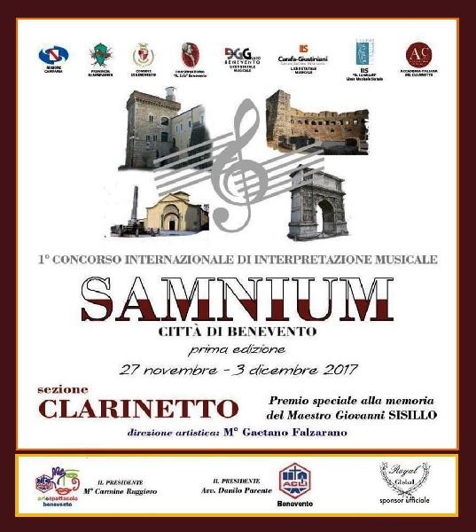 Al via le audizioni del I° Concorso Internazionale di Musica Samnium – Città di Benevento – sezione Clarinetto