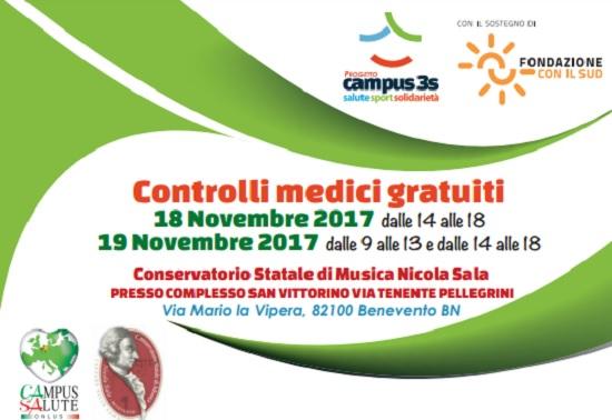 """Il Conservatorio """"Nicola Sala"""" di Benevento apre le porte alla prevenzione"""