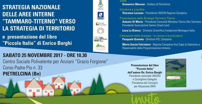 A Pietrelcina la presentazione della strategia di territorio dell'area Tammaro-Titerno
