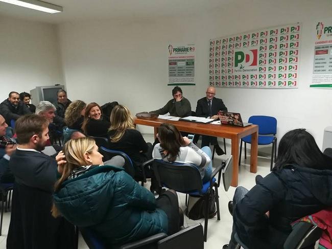 Riunione del Circolo PD di Benevento per la pre-selezione delle candidature a Segretario Nazionale ed a Segretario Regionale.