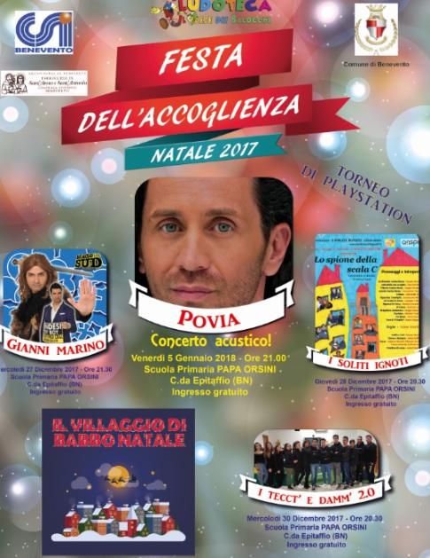 Il Paese dei Balocchi, annuncia la XXV^ Edizione della Festa dell'Accoglienza – Natale 2017