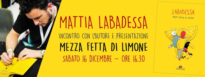 Mattia Labadessa,ospite a Benevento di Stregomics il 16 Dicembre
