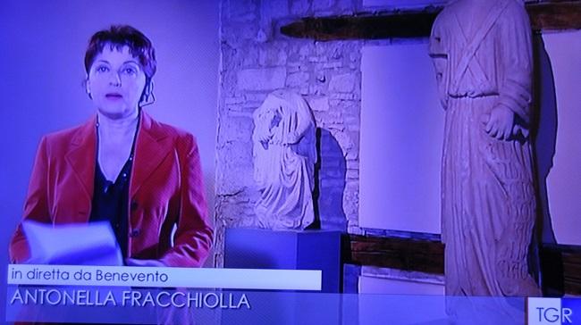 Il Tg3 delle 14,00 della Campania di oggi 9 Dicembre 2017 è andato in diretta dalla Loggia del Museo del Sannio