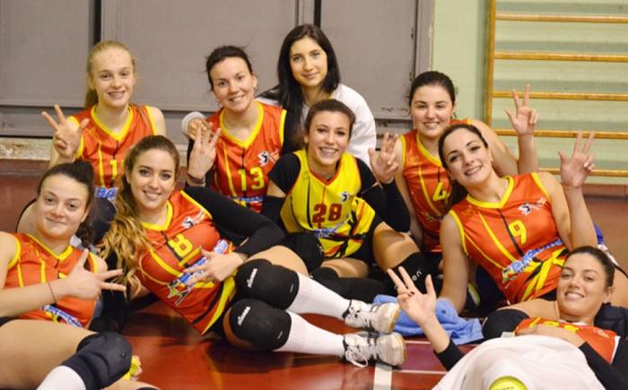 La Volare Benevento liquida la Volleyball Stabia e chiude il giorne d'andata al decimo posto.