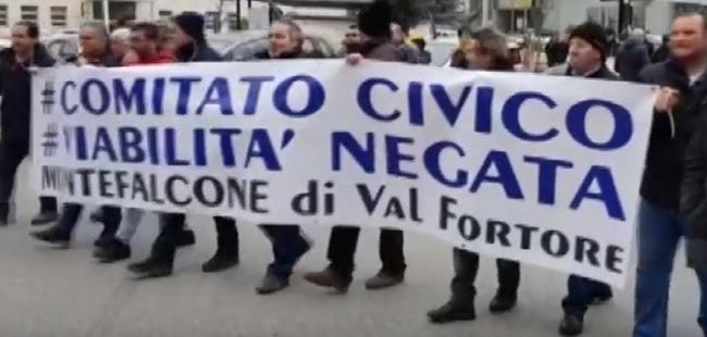 """Benevento, protesta Fortore. """"Viabilità Negata"""" torna in strada a protestare."""