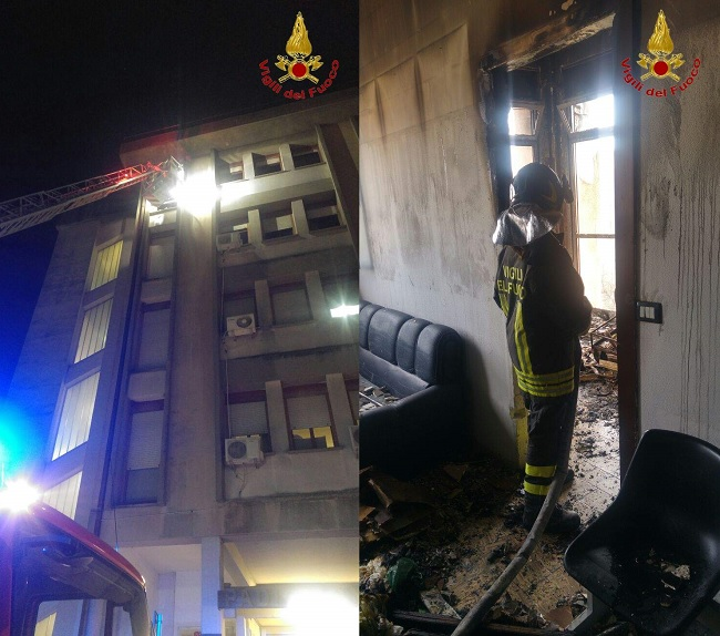 Benevento. Messo in sicurezza il padiglione di Emergenza dell'Ospedale Rummo dopo l'incendio