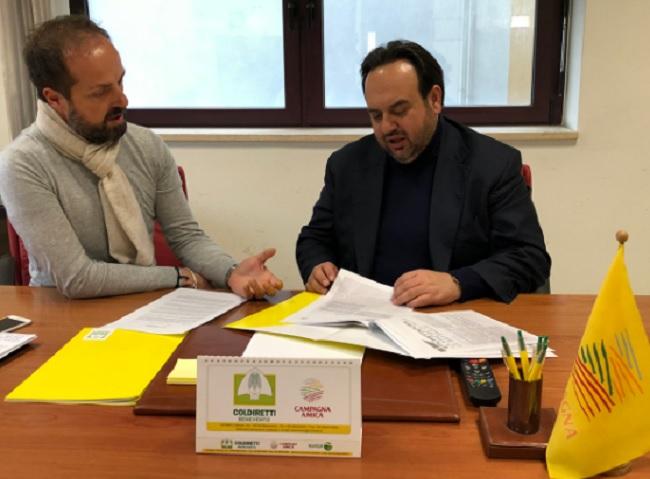 Valentino: sottoscrive il manifesto della Coldiretti con 5 impegni per l'agricoltura