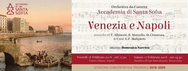 """Orchestra da Camera Stabile Accademia Santa Sofia. Sabato 17 Febbraio il concerto """"Venezia e Napoli"""""""