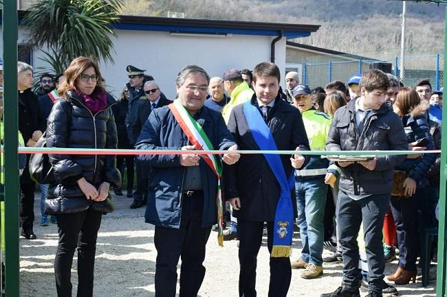 Inaugurato questa mattina il campo di calcetto di Durazzano alla memoria di Don Peppino Diana