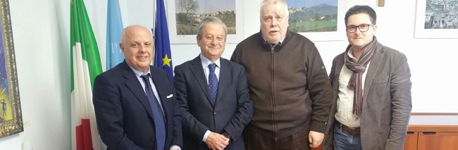 Il sindaco di Guardia Sanframondi Floriano Panza ricevuto alla Rocca dei Rettori.