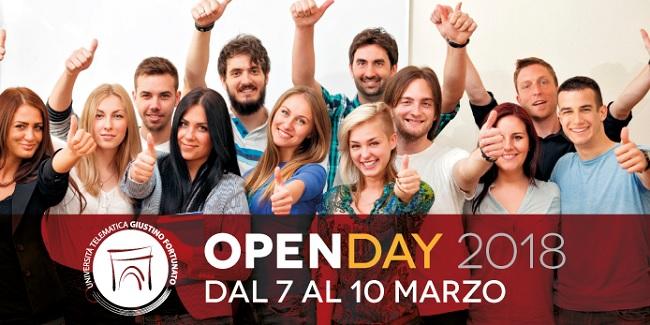 Unifortunato al via l'Open Day 2018. Mercoledì 7 Marzo sarà illustrata l'offerta formativa.