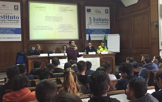 Benevento: avviato stamane il progetto di Alternanza Scuola-Lavoro di GESESA per la Scuola.