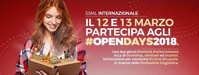"""""""Scuola Superiore per Mediatori Linguistici – Internazionale"""", Open Days 2018 12 e 13 marzo"""