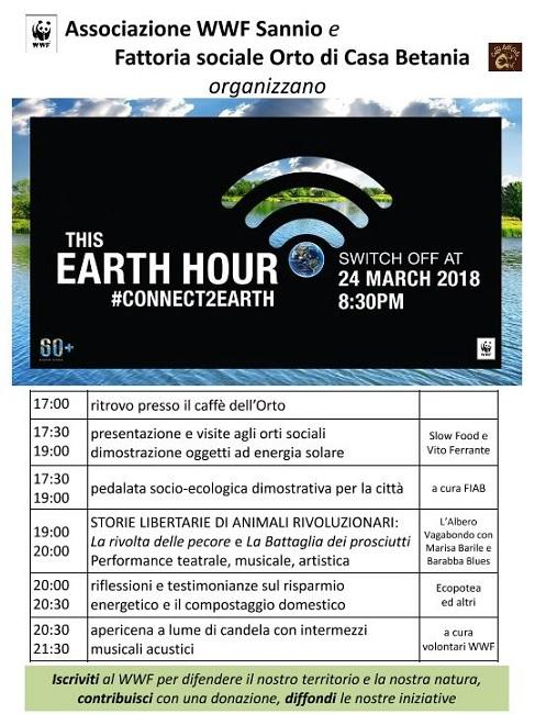 Earth Hour Benevento. 24 Marzo,  Storie Libertarie di Animali Rivoluzionari