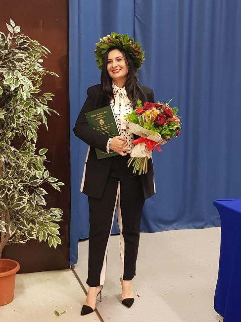 Si è brillantemente laureata in Giurisprudenza Cinzia Lucia De Girolamo