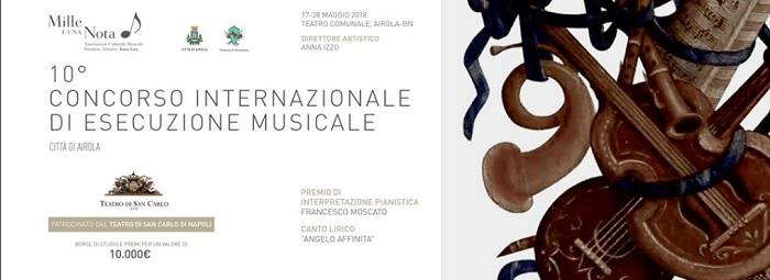 """Primi verdetti per la decima edizione del Concorso Internazionale di Esecuzione Musicale """"Città di Airola"""""""