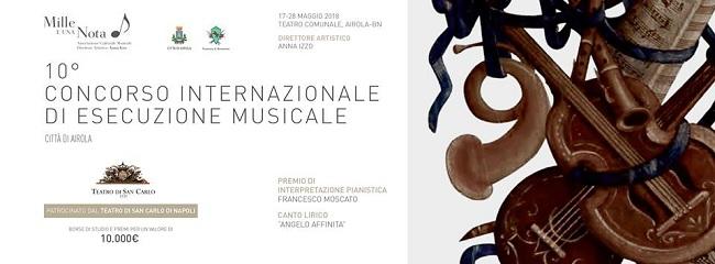 """Concorso Musicale """"Città di Airola"""", prorogate le iscrizioni al 12 maggio"""