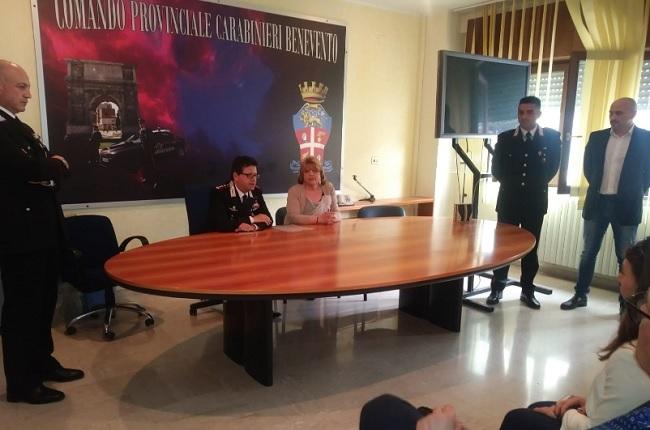 Benevento: #Avanti Donne incontra l'Arma dei Carabinieri Provinciale di Benevento.