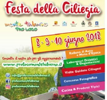 Ritorna la Festa della Ciliegia, a Campoli Monte Taburno l'8, 9 e 10 Giugno.