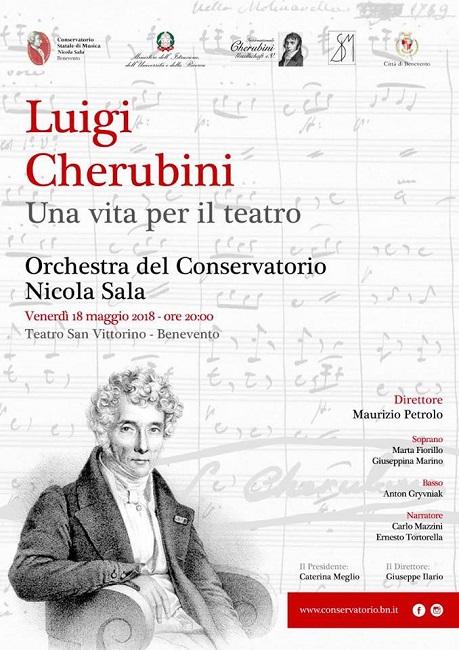 """Conservatorio """"Nicola Sala"""" di Benevento. Luigi Cherubini: """"Una vita per il teatro"""""""