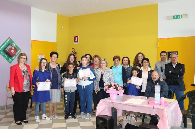 Premiazione concorso scuola per Giro d'Italia a Pesco Sannita