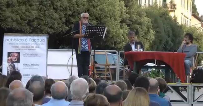 """Pubblica è l'Acqua. Padre Zanotelli:""""Difendiamo un bene preziosissimo""""."""