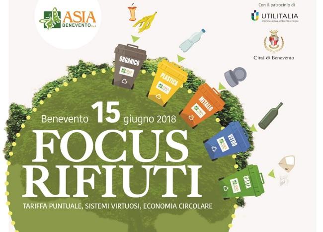 Rifiuti: a Benevento il 15 Giugno Focus dell'Asia.
