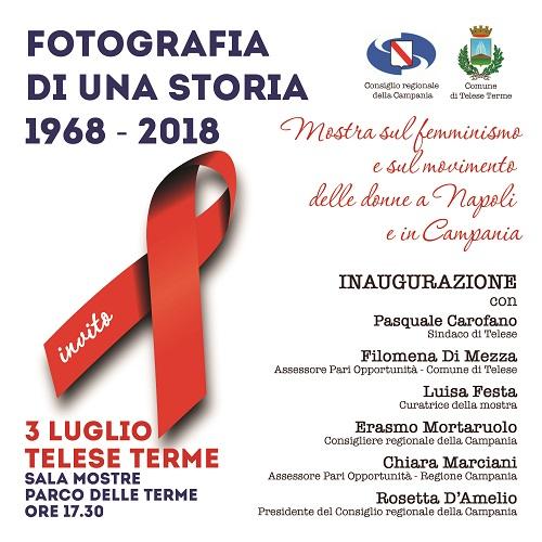 """""""Fotografia di una storia"""", dal 3 luglio a Telese Terme la mostra che celebra il femminismo"""